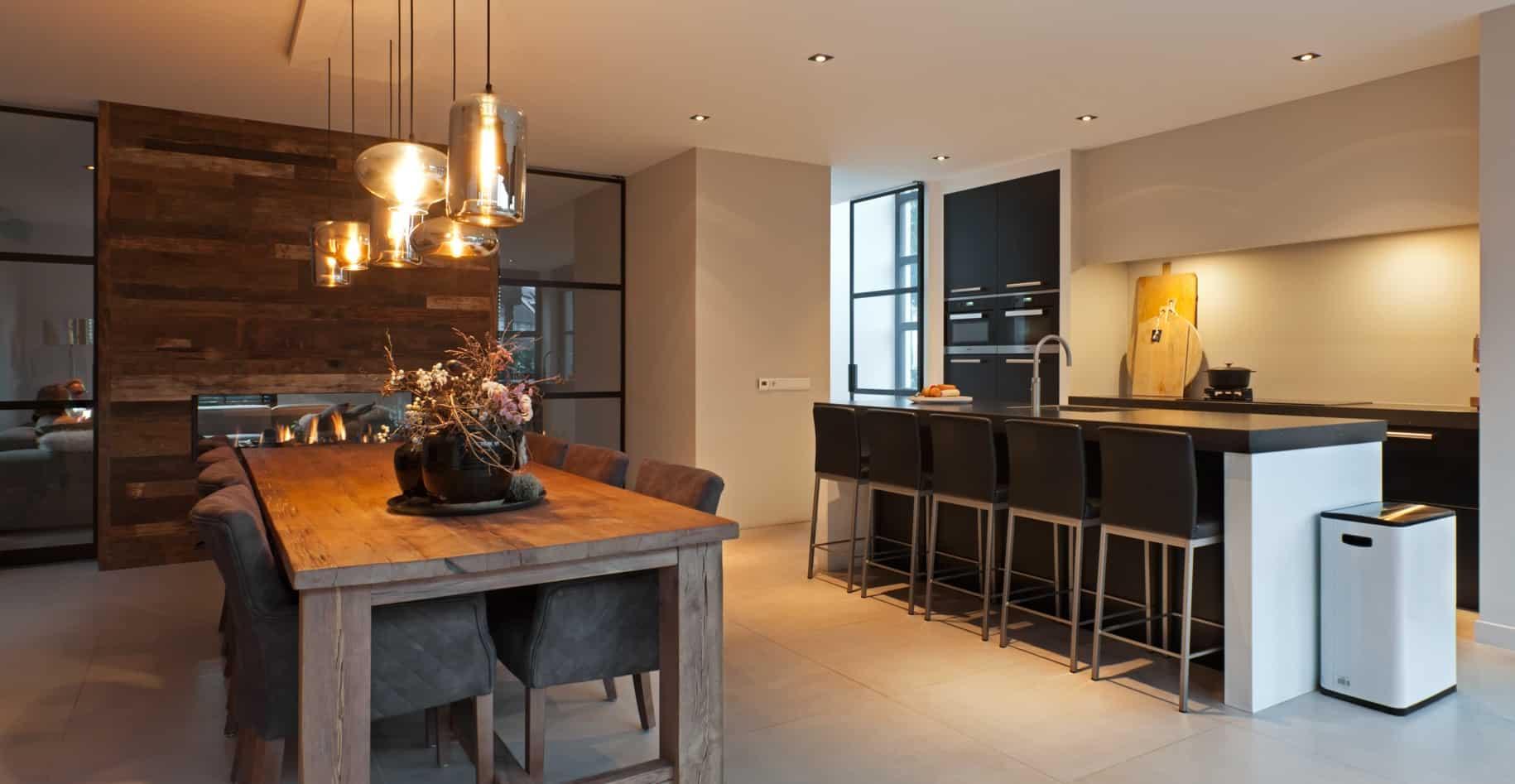 Moderne zwarte keuken 73