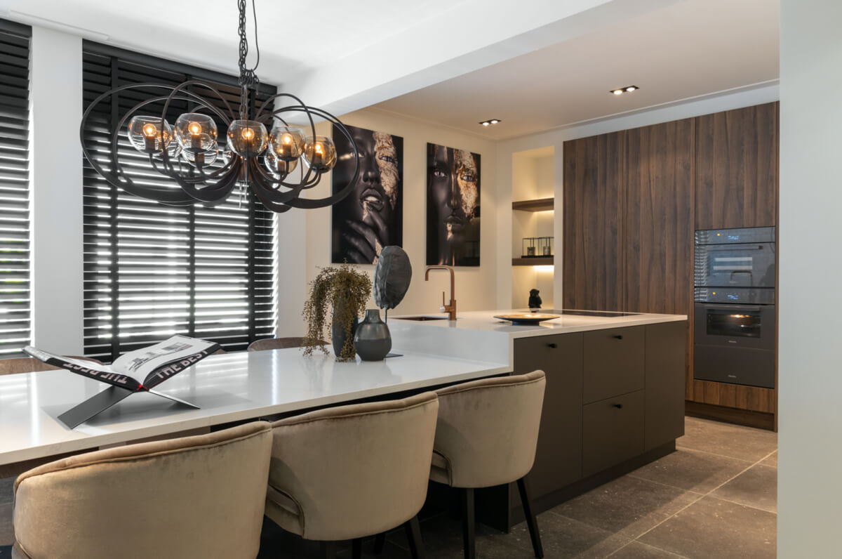 Antraciet metallic keukenfront