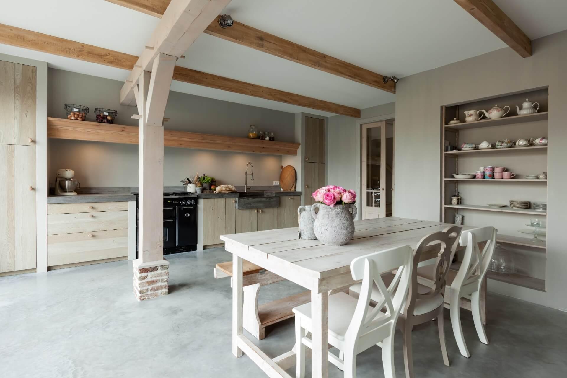 Landelijke eiken houten keuken 001
