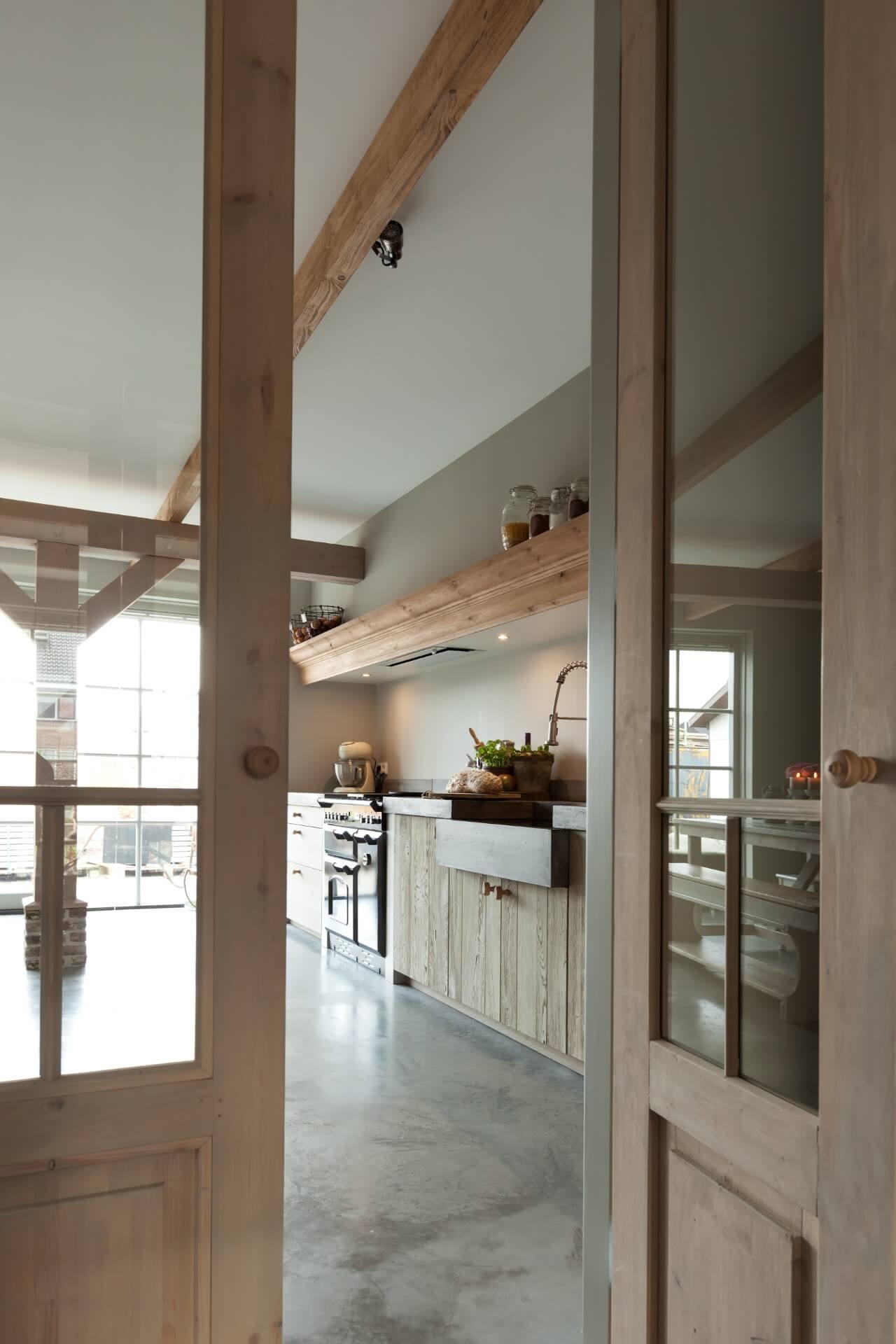 Landelijke eiken houten keuken 003