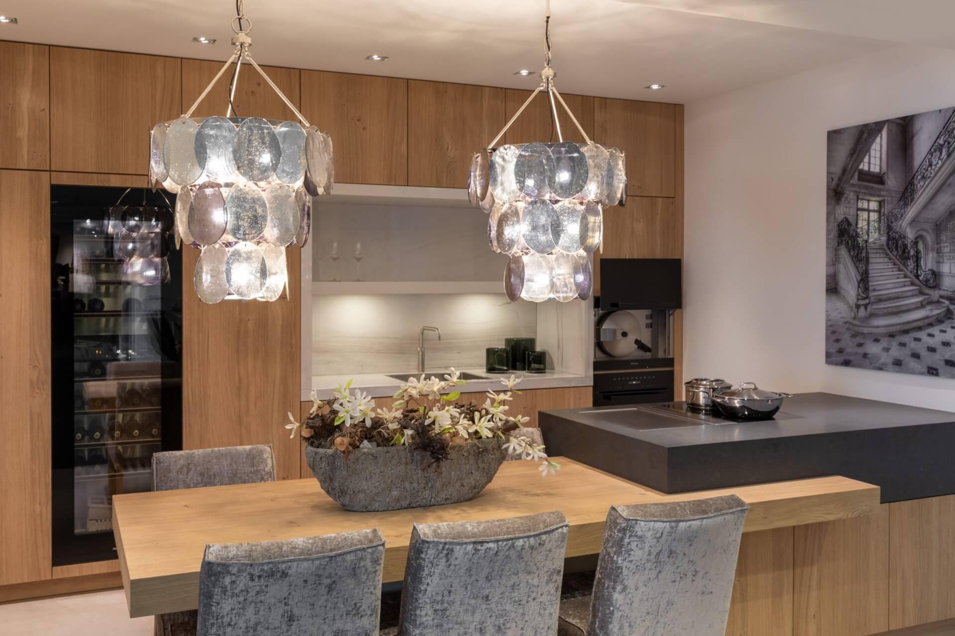 Eikenhouten tip on keuken met Miele apparatuur | Barneveld