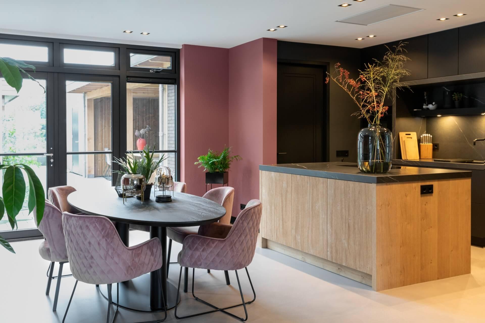 Moderne zwarte fenix keuken 012
