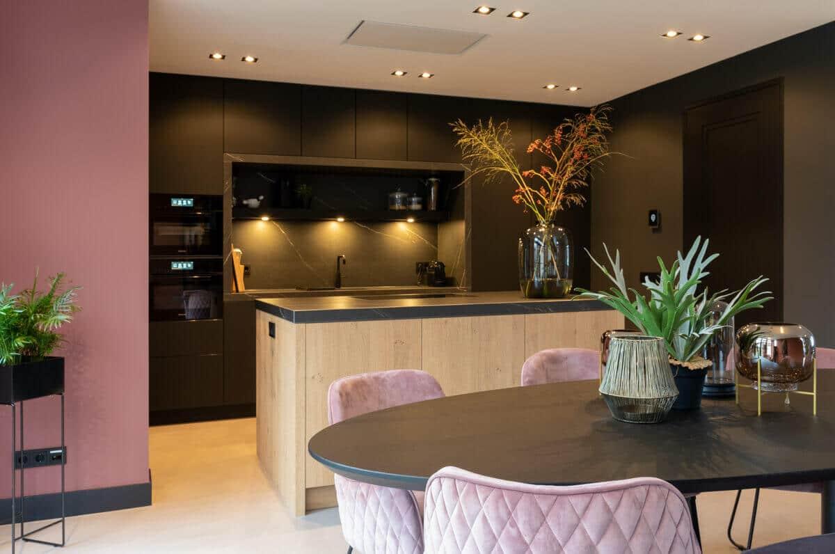Moderne zwarte fenix keuken 2