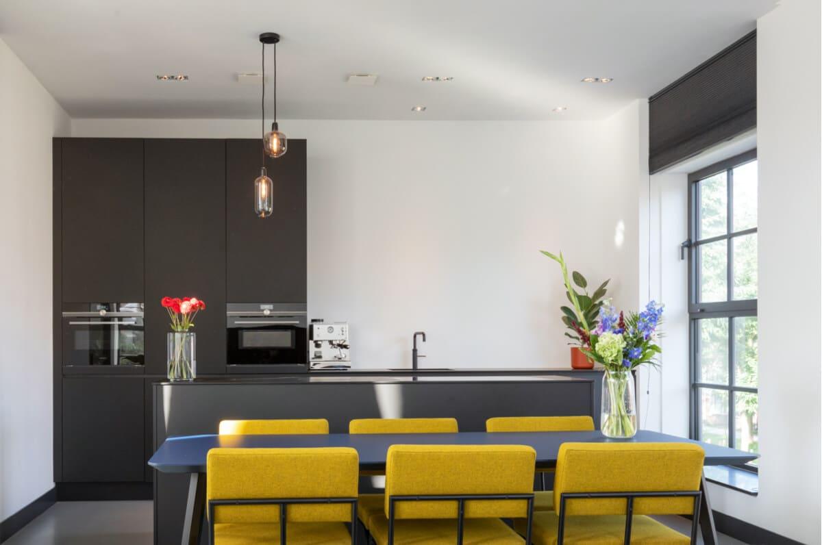 Zwarte fenix design keuken