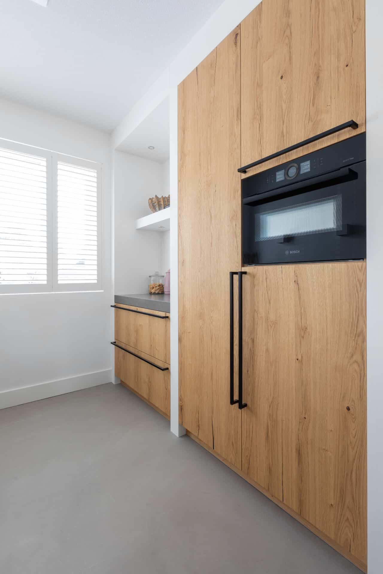 Robuuste Houten Keuken Met Bosch Apparatuur Van Ginkel Keukens Barneveld